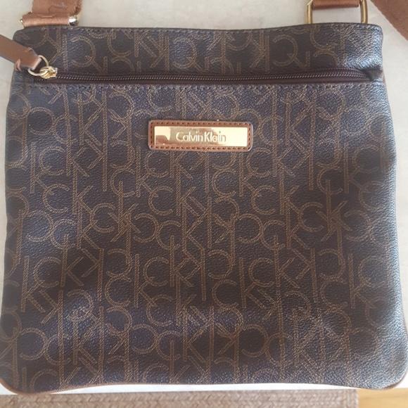 f72d57b589 Calvin Klein Handbags - Calvin Klein Monogram Crossbody Bag